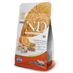 Farmina Natural & delicioso Baixa Grain Cod e gatos alaranjados