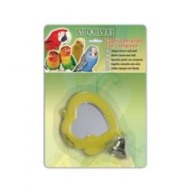 Espelho com Pássaro de Sino Brinquedo Amarelo