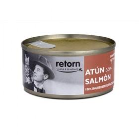 Retorn Lata de Atum com Salmão para Gatos