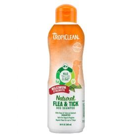 Natural Tropical Shampoo limpa pulgas e carrapatos 582ml