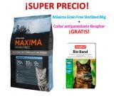 PACK Maxima Grain Free Gatos Esterilizados + Collar antiparasitario Beaphar