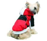 Abrigo Snow Blanco, Rojo y Negro Para Perros