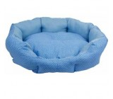 .Cama Oval Topitos Azul