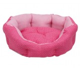.Cama Oval Topitos Rosa