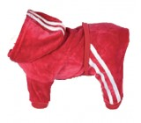 Chandal Terciopelo Suave Rojo