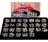 Collar Personalizado de Terciopelo con letras de Cristal