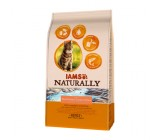 Iams Naturally Rico en Salmao e Arroz Gatos Adultos