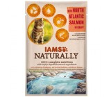 Iams Naturally Salmao do Atlantico Gatos Adultos