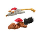 Juguete Navidad Para Gatos Raton y Ardilla Con Catnip