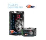 Alpha Spirit lata de Salmão e Blueberries para Cães