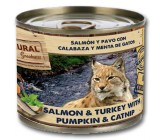 Natural Greatness Gatos Salmao e Turquia com Abóbora e Hortela