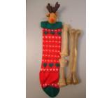 Bota de navidad con tres huesos