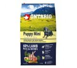 Ontario Super Premium Lamb & Rice filhote de cachorro Mini