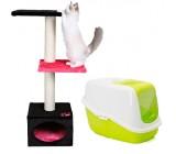 Pack Raspador Badalona e toilette nestor para gatos