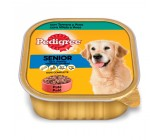 Pedigree Tarrina Senior Pate con Ternera y Aves