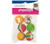 Pack 6 Bolas Multicolor Para Gatos
