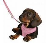 Petral puppy Rosa Con Correa
