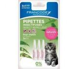 Natural Pipetas Antiparasitários Francodex para Gatinhos 3 Uds.