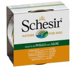 Schesir Dog Filete de Pollo y Aloe 150grs