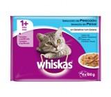 Seleção 1+ Whiskas Jelly Fish para Gatos